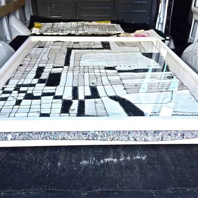 Framed Work Back of Van