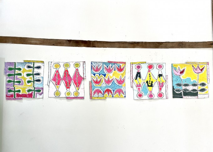 New Colorful Know Her works, No. 1-5